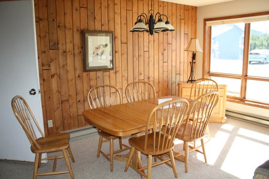 Lake Condominiums: dining room table