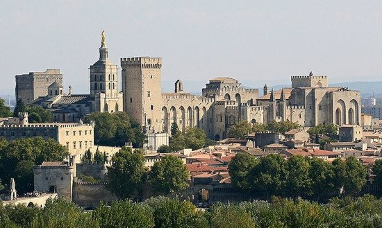 Palais des Papes : Pope's Palace-view from the town