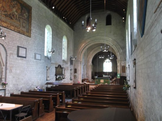 Portchester Castle: Interior of Porchester Churrch.