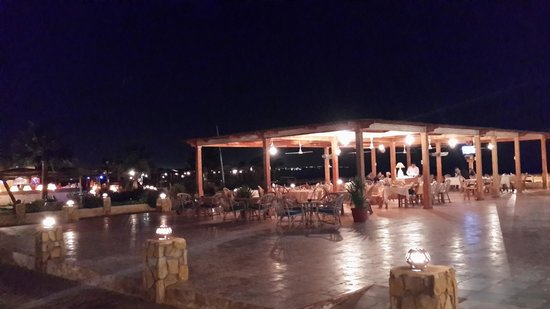 Reef Beach restaurant night view