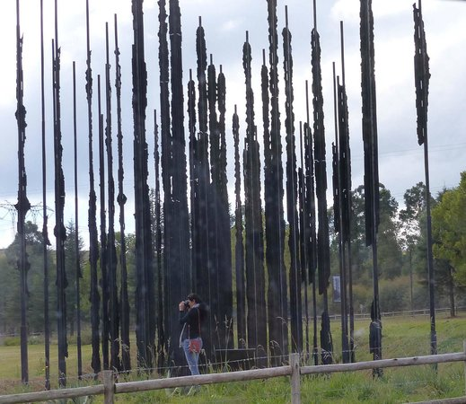 Nelson Mandela Capture Site: Sculpture from the road