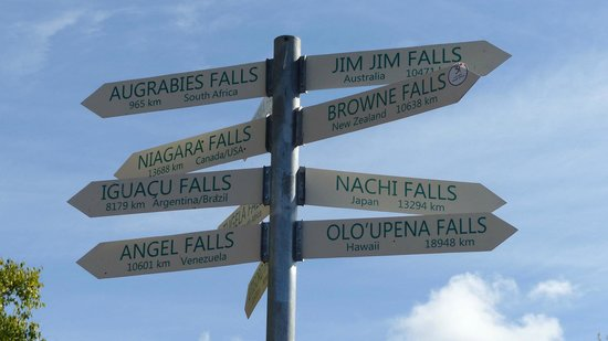 Howick Falls: Sign Post to other famous falls