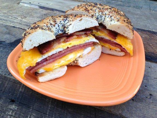 Sunrise Cafe of Ocean City: Porkroll & Bacon Breakfast Sandwich