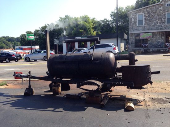 Full Service BBQ : Another smoker out front.