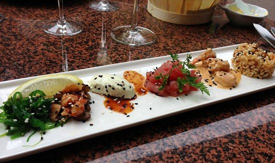 Lucius Seafood Restaurant: A starter from the menú, can't remember the name