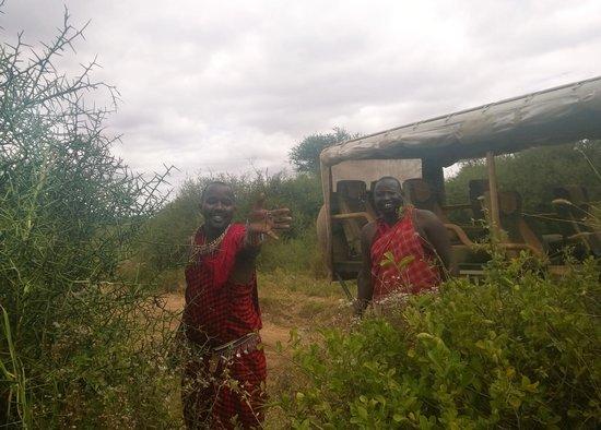 Porini Amboseli Camp: Wilson, Julius and Golden Orb spider!