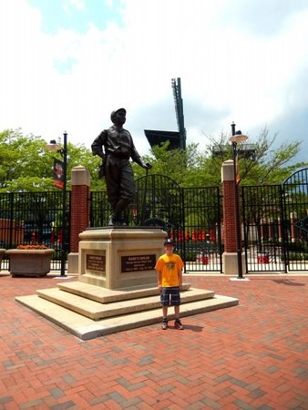 Oriole Park at Camden Yards : We had just visited the Babe Ruth Birthplace and Museum before stopping at the park for this pho