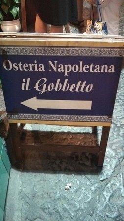 Osteria Il Gobbetto: お店看板