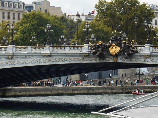 Pont Alexandre III: Detalhe da ponte!