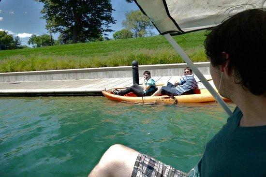 White River State Park: kayak and paddleboats