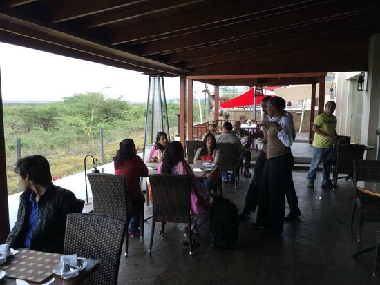 Ole Sereni: The dining area balcony overlooking Nairobi National Park!