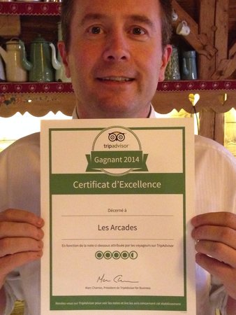Les Arcades : Le chef LAURENT a obtenu un diplôme bien mérité ....