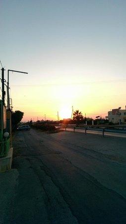 Despo Hotel: sunset as we left