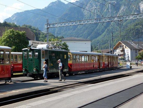 Schynige Platte: Electric Loco Train ready to go
