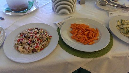 Hotel Diplomat Palace: vegan - carote al sesamo e riso alle verdure