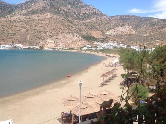 Stavros Hotel : view from balcony of beach