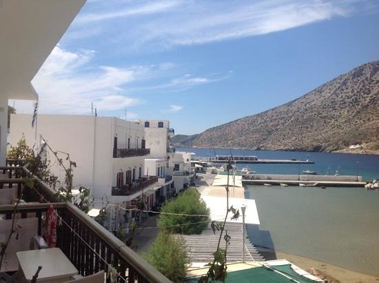 Stavros Hotel : view of port from balcony