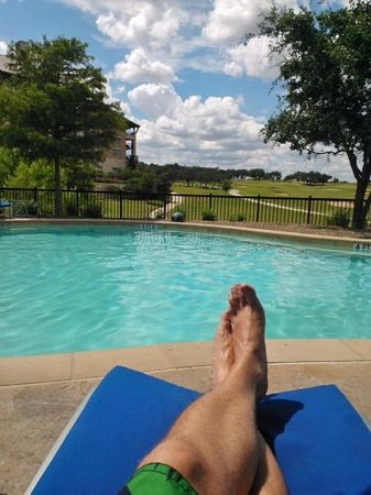 JW Marriott San Antonio Hill Country Resort & Spa: View at the adult pool. Ahhhh ....
