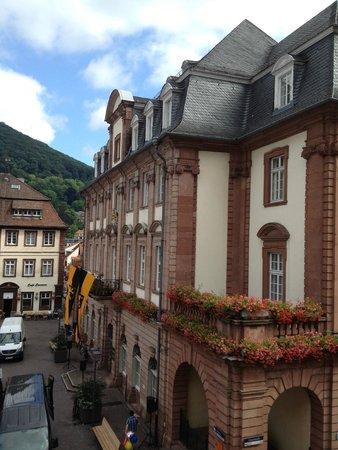 Hotel Goldener Falke: Looking out the window