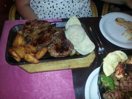 Family Door: tbone steak