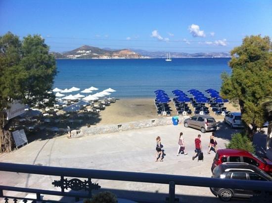 Ippokampos Beachfront Hotel Naxos : Balcony view