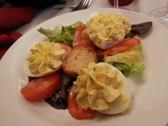 Le Nicol's : Oeufs tomate (entrée)