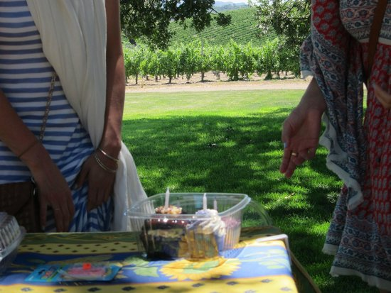 Sustainable Vine Wine Tours : Scott even brought birthday cupcakes for my wife and her twin sister.