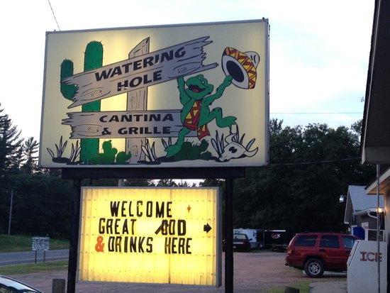 Watering Hole Cantina and Grille: Watering Hole Hazelhurst WI signage