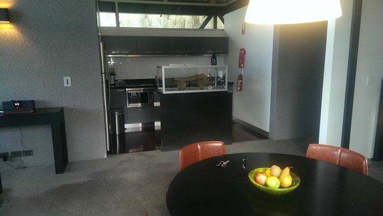 Mona Pavilions: Kitchen with our very own historical artefact