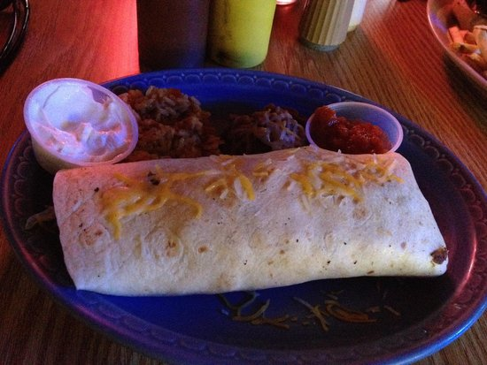 Watering Hole Cantina and Grille: Watering Hole Hazelhurst WI Burrito plate