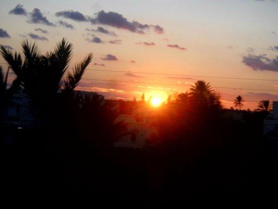 coucher de soleil en novembre Djerba Sun Club