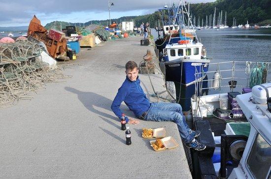 Fishermans Pier Fish & Chip Van : Unser Sitzplatz