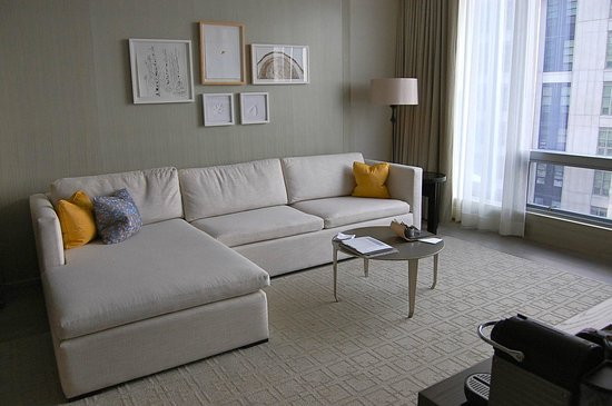 Four Seasons Hotel Toronto: A bright, spacious living room filled with Canadian art