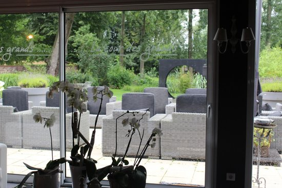 La Cour des Grands: Lounge and view to outdoor patio