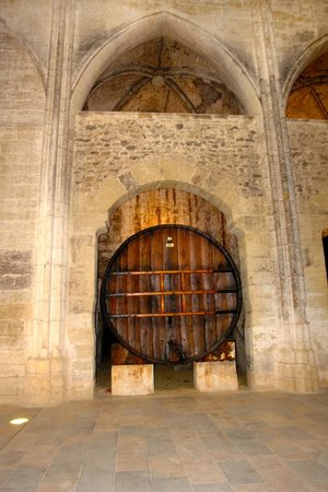 Abbaye de Valmagne: Wine storage in the nave