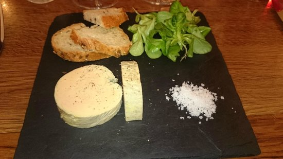 La Grappe: A nice portion of foie gras which was superb