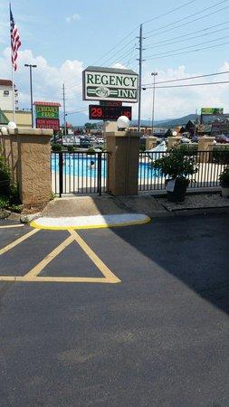 Regency Inn: The pool area