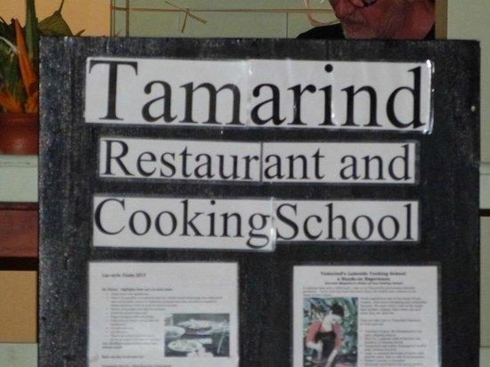 Tamarind: Name Board