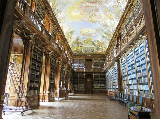 Private Prague Guide Day Tours : library at Strahov Monastary