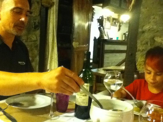 Auberge Cavaliere : souper en tête à tête à l'auberge.