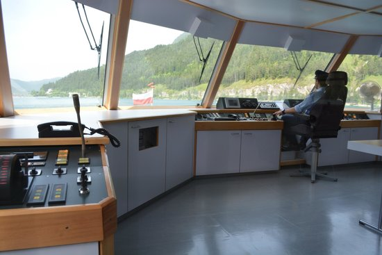 Achensee: Control Bridge on TIROL boat