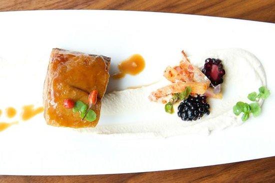 Etch Restaurant : Pork Belly with tahini tofu sauce & ginger caramel