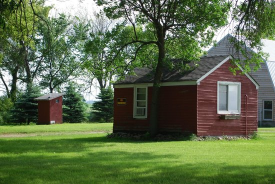 Hendricks, MN: One of two bunkhouses with outhouse.