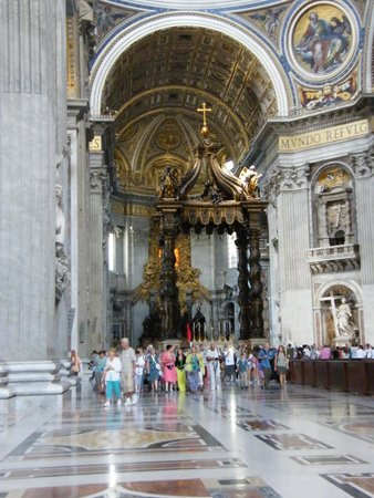Baldacchino di San Pietro, di Bernini: Berinini's Baldacchino