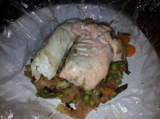 El Campo : Papillote de colin/saumon avec petits legumes : 15,50 € produits frais