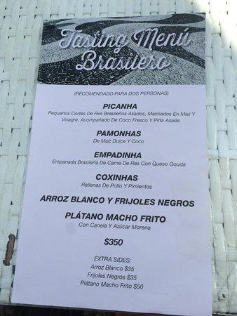 Las Casas B+B Hotel: Excellent tasting menu.