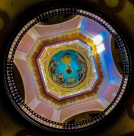 University of Notre Dame: Looking up Inside the Golden Dome of Norte Dame