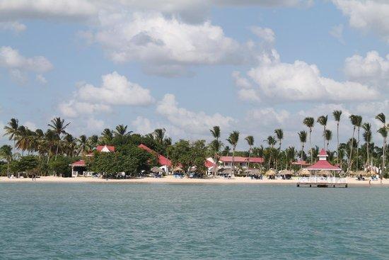 Grand Bahia Principe La Romana : Resort from the sea