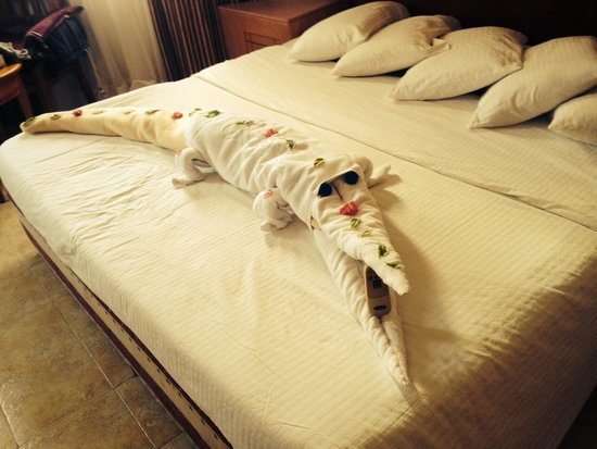 Nubian Island Hotel: Lovely towel art