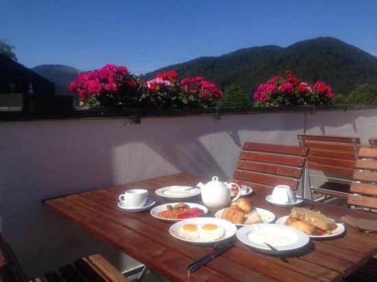 Karma Bavaria: Breakfast from restaurant balcony